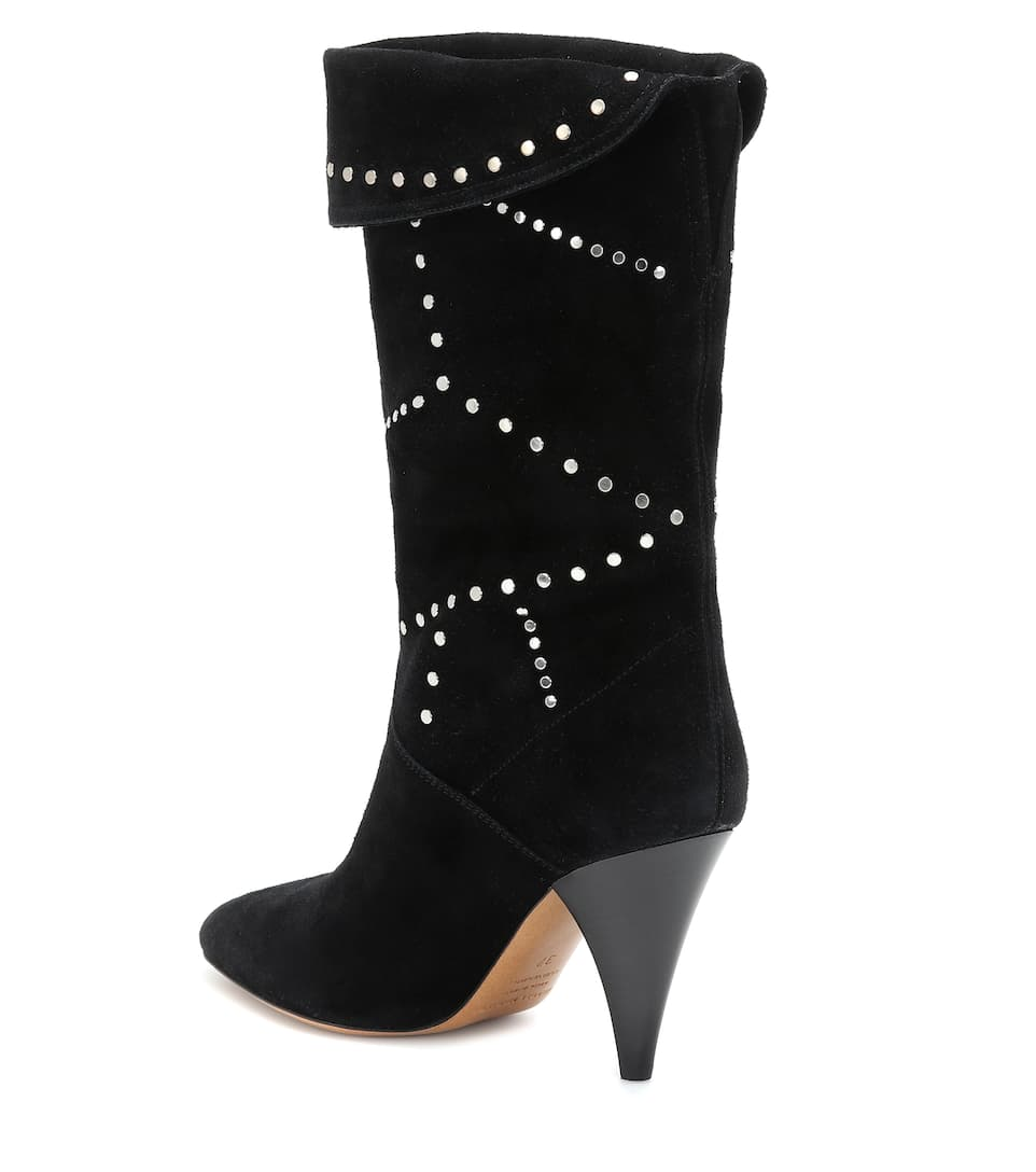 Lestee Studded Suede Ankle Boots