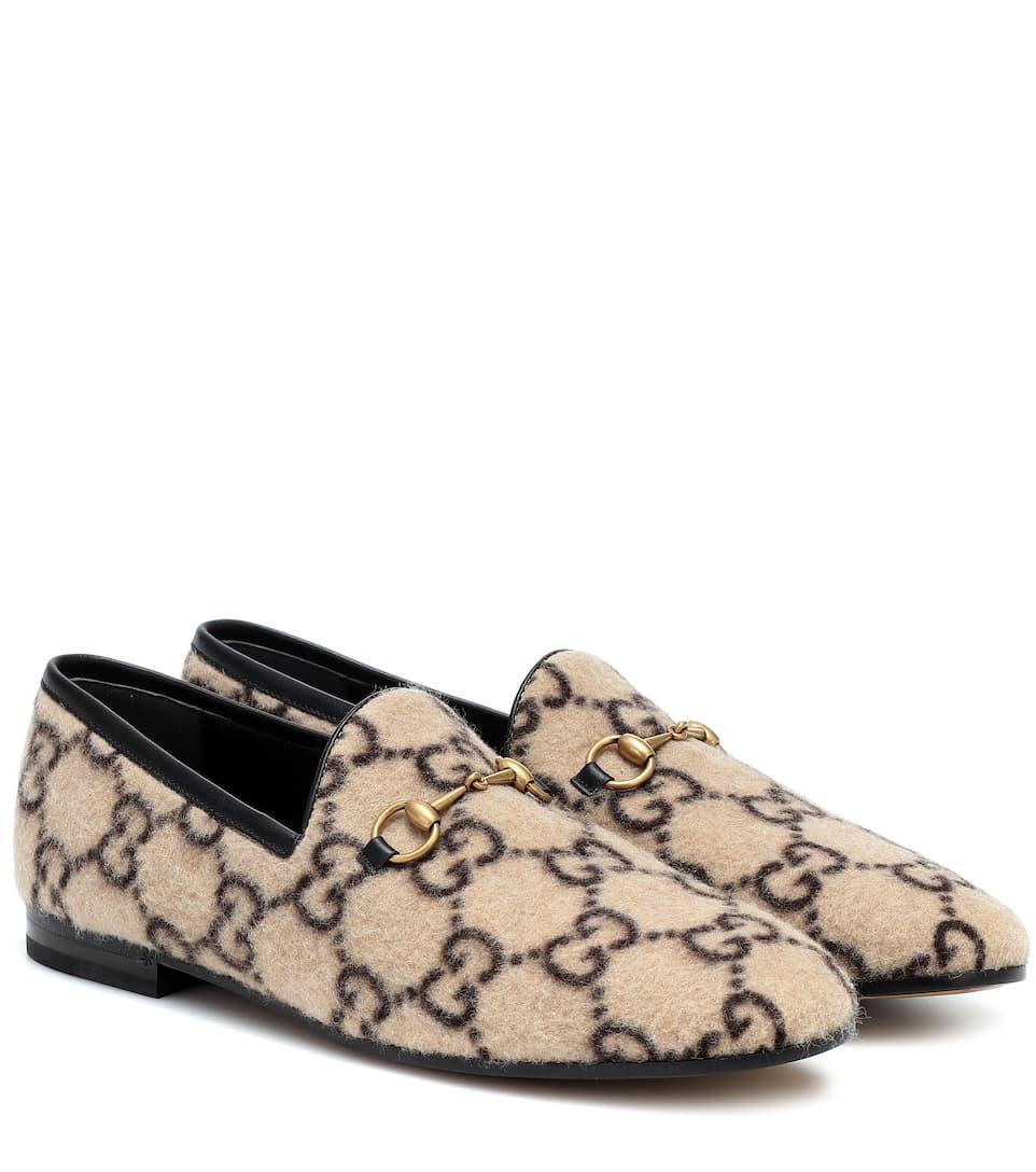 Gucci - Jordaan GG wool loafers | Mytheresa