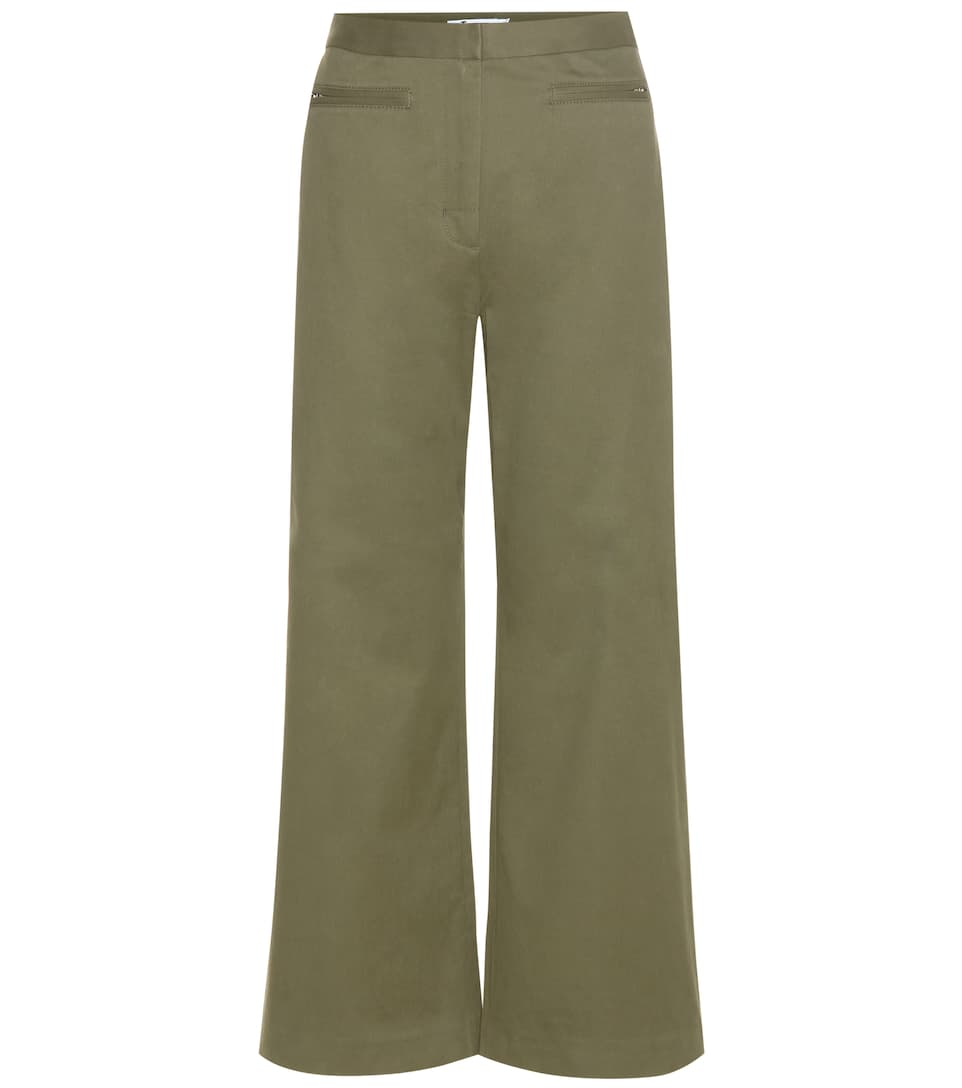 big discount sale ever popular buy best T by Alexander Wang - High-waisted cotton-blend trousers ...