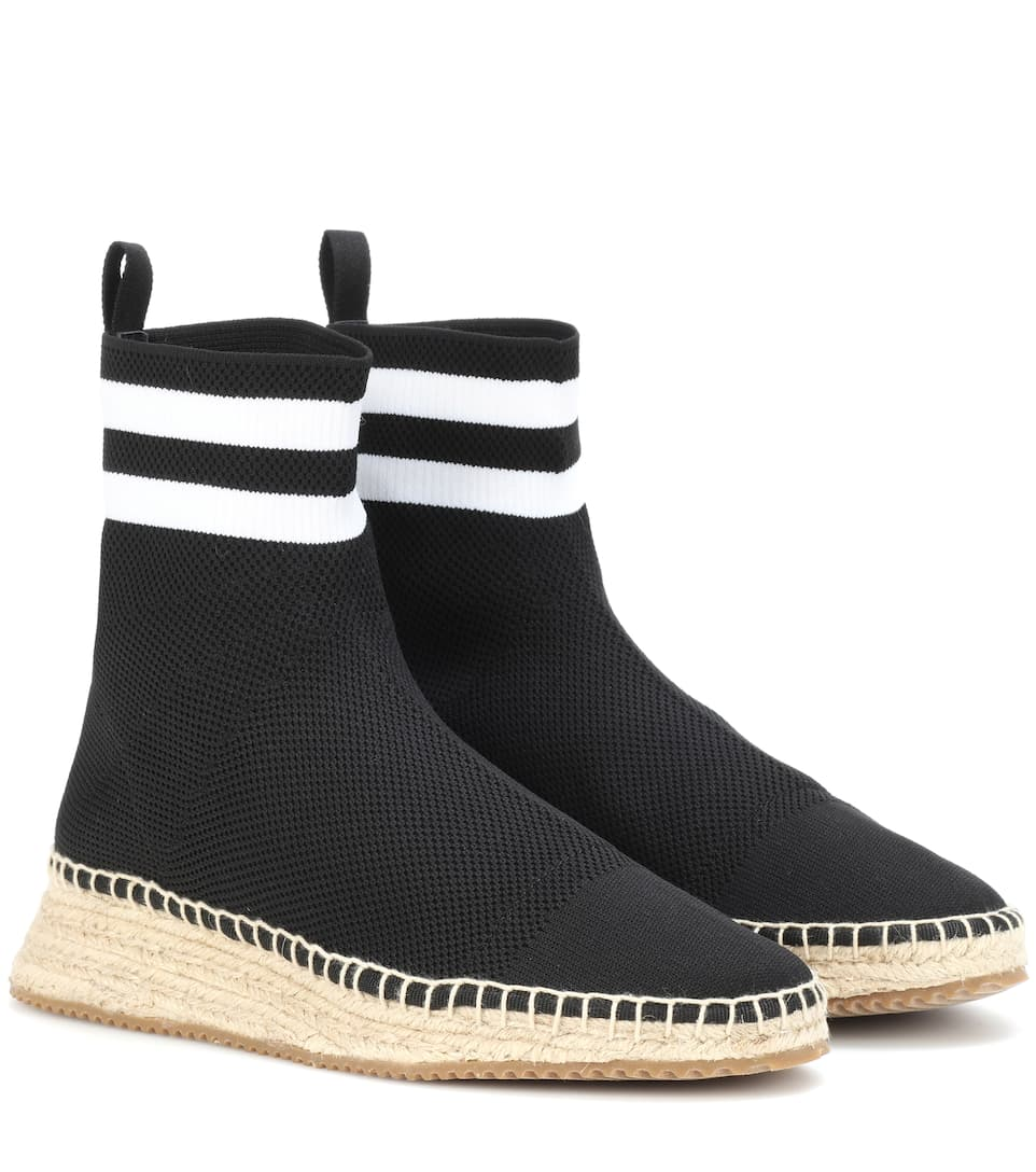 high ankle sock espadrilles - Black Alexander Wang