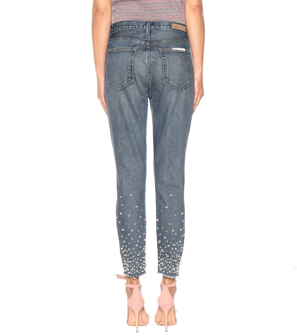Online-Shopping-Spielraum Grlfrnd Verzierte Skinny Jeans Karolina Offizielle Zum Verkauf Komfortabel Günstiger Preis Top-Qualität Online euO6qu3tR