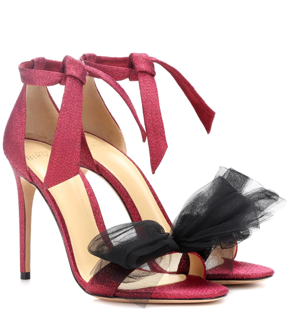 9b46e55d7a8c64 Exclusive To Mytheresa.com – Clarita Lamé And Tulle Sandals - Alexandre  Birman