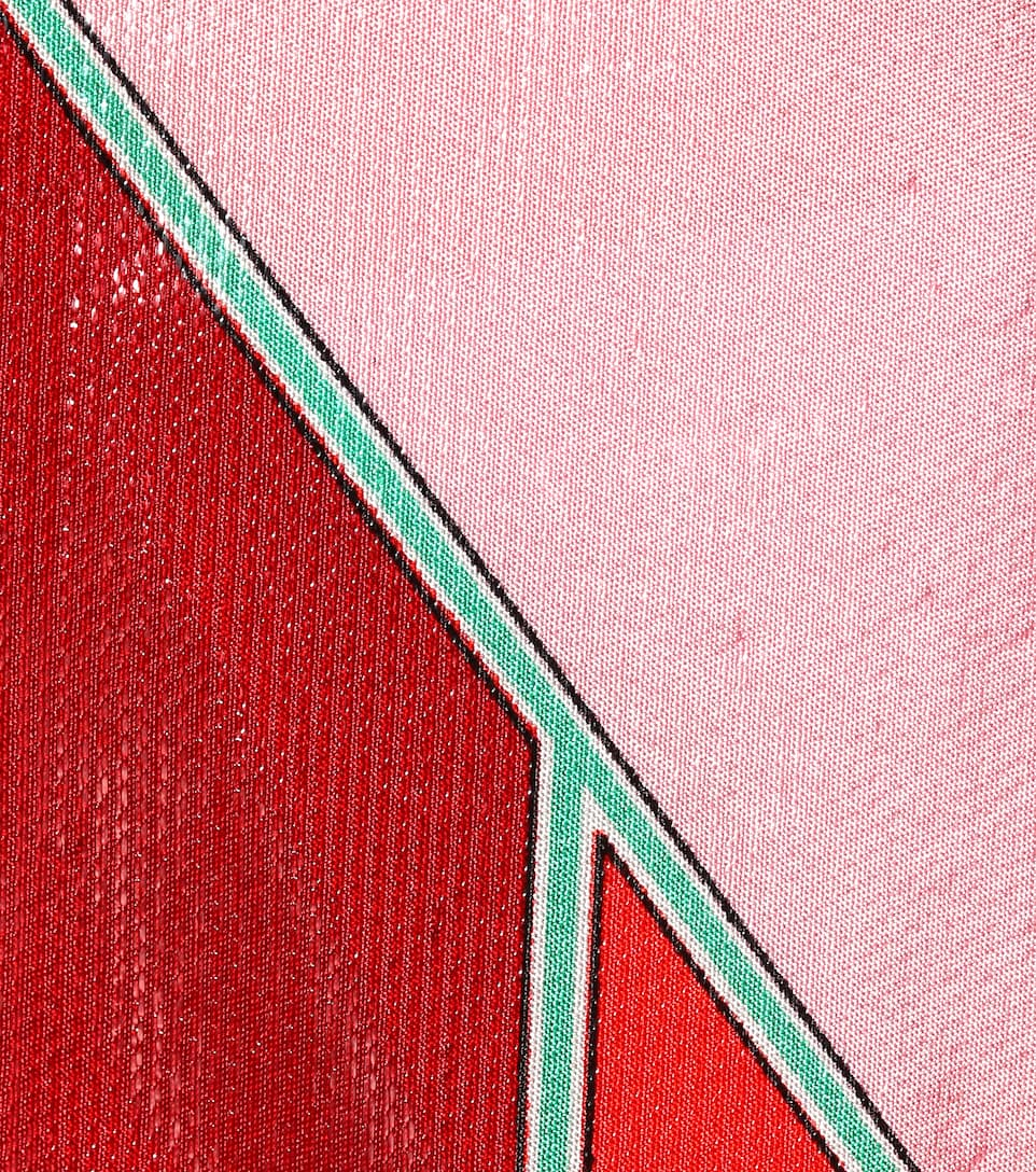 Diane von Furstenberg Asymmetrisches Midikleid aus einem Seidengemisch
