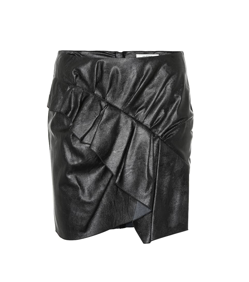 Zeist Ruffled Faux Leather Skirt by Isabel Marant, Étoile