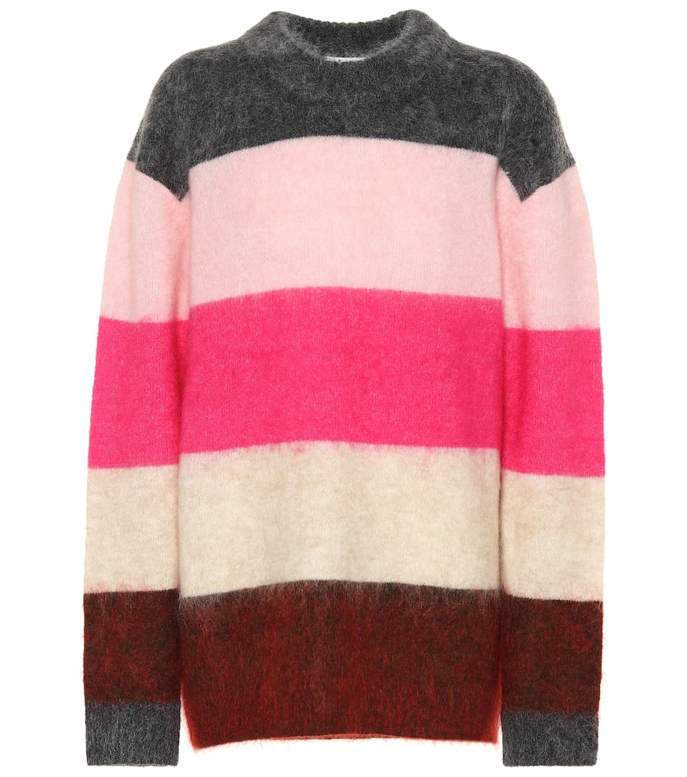 Exclusive To Mytheresa – Albah Striped Mohair Blend Sweater by Acne Studios