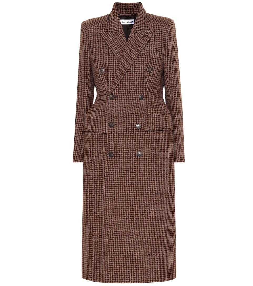 18415de36a2 Hourglass checked wool coat