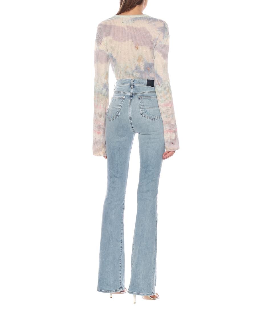 Amiri - High-rise flared jeans