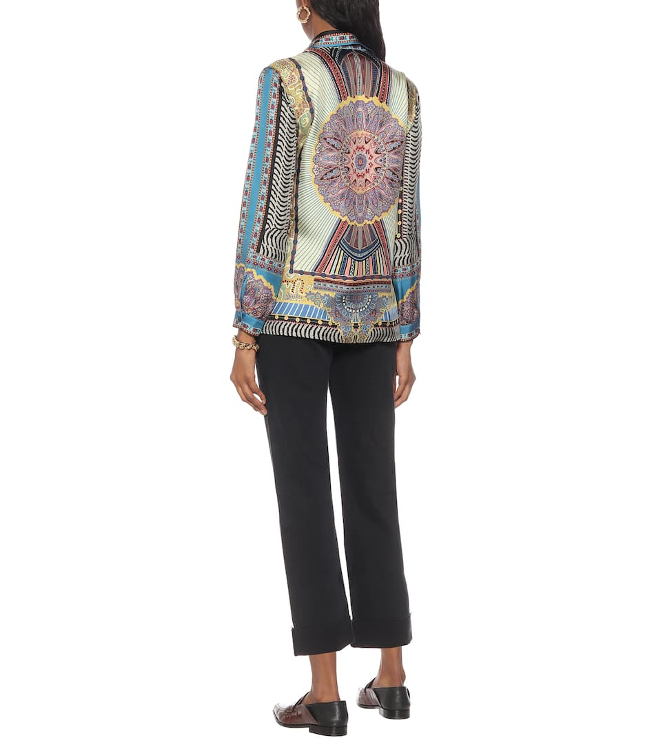 Etro - Printed silk-twill shirt