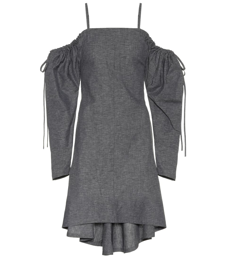 Sast Cheap Price Exclusive to mytheresa.com - off-the-shoulder cotton dress J.W.Anderson Clearance Sale Buy Cheap 100% Guaranteed fwE5Q0