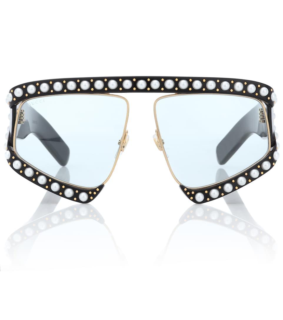 U8x8B3wiTV - Lunettes de soleil ornées de perles fantaisie