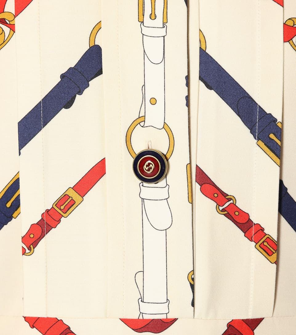 Spielraum Wirklich Gucci Bedrucktes Kleid aus einem Wollgemisch Großhandel Qualität iO8aj