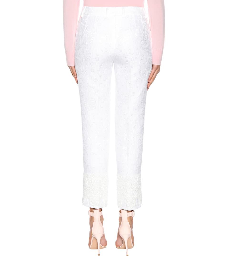 Dolce & Gabbana Hose aus Jacquard mit Baumwollanteil Rabatt Für Billig Verkauf Schnelle Lieferung Sammlungen Verkauf Ausgezeichnet Billig Billig FG4AH