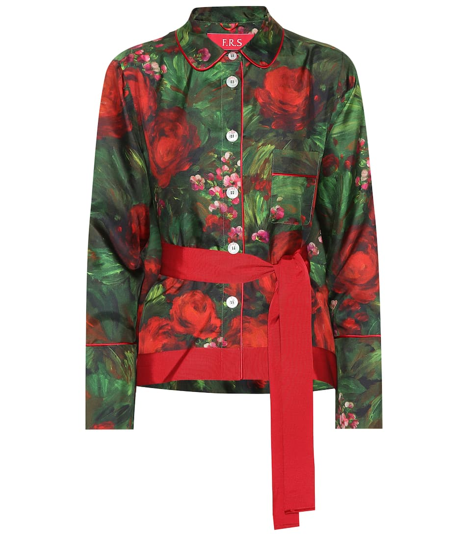 16227bc5e Agon Printed Silk Shirt - F.R.S For Restless Sleepers
