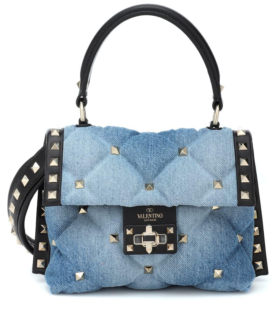 542364621237 valentino-garavani-candystud-denim-shoulder-bag by valentino-garavani