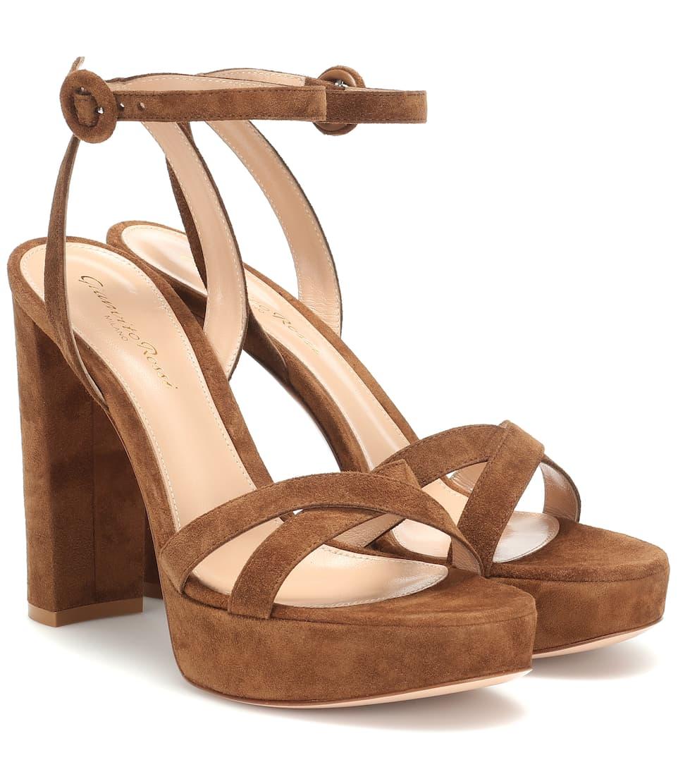 df2e3b10a1ac Poppy 85 Suede Platform Sandals