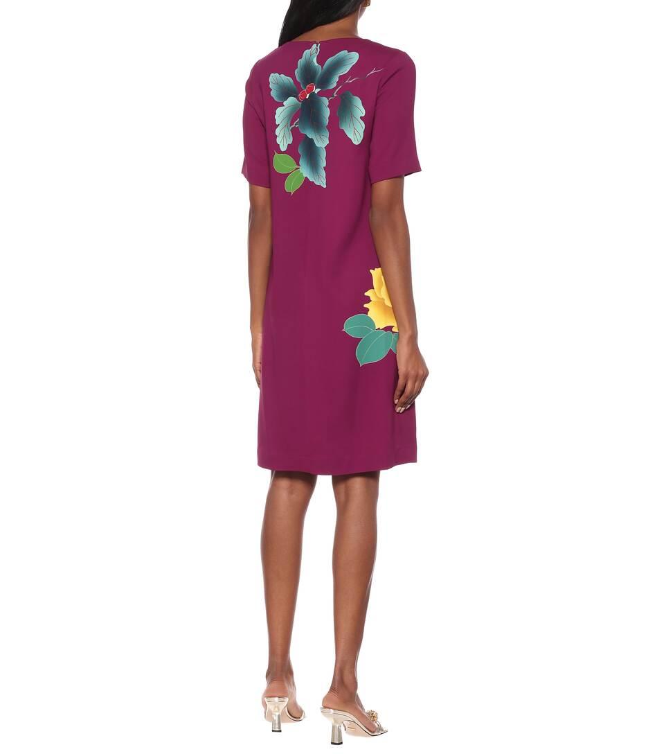 Etro - Floral cotton-blend crêpe dress
