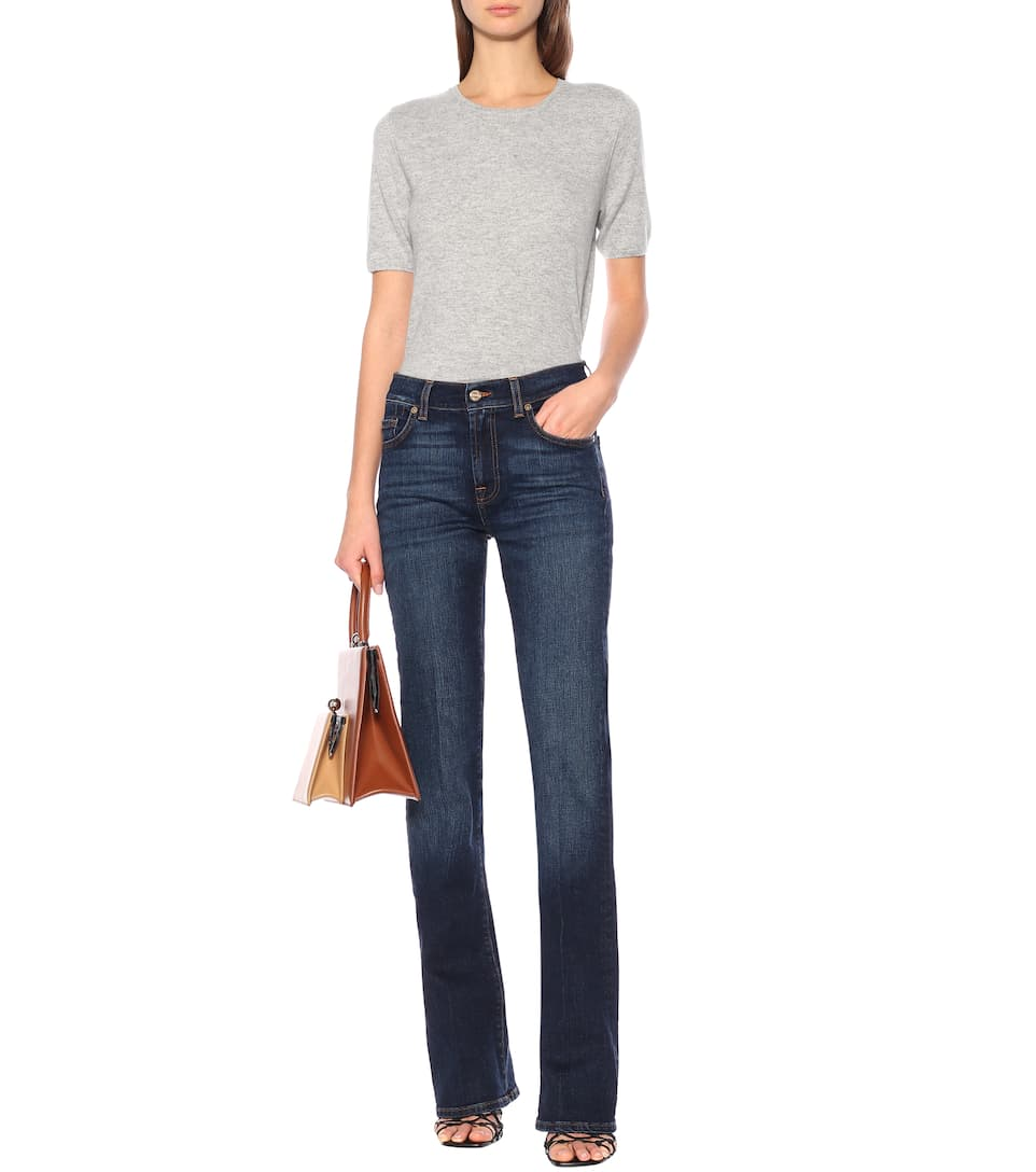 7 For All Mankind - Mid-rise slim bootcut jeans
