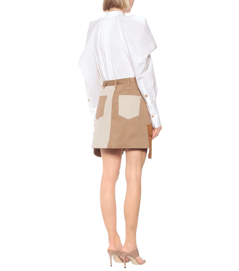 Deconstructed Cotton Miniskirt - Monse