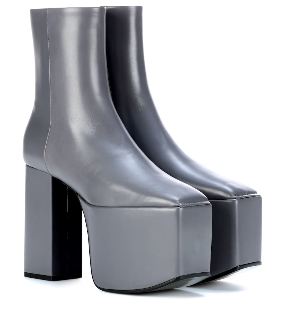 plateau leather ankle boots balenciaga mytheresa. Black Bedroom Furniture Sets. Home Design Ideas