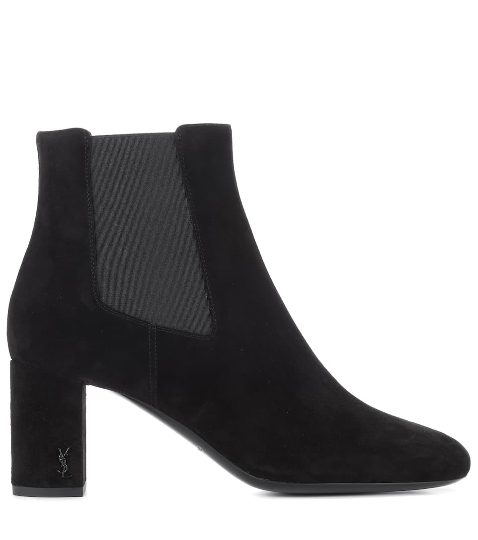 Saint Laurent Ankle Boots aus Veloursleder