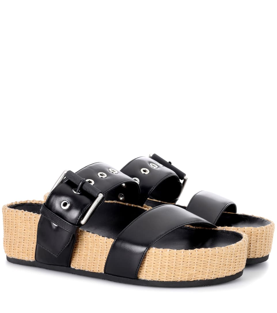 Rag & Bone Evin leather sandals Black Outlet Locations Cheap Price Cheap Price Buy Discount Outlet Cheapest Price Discount Explore Sale Fashion Style a23VAYzrK1