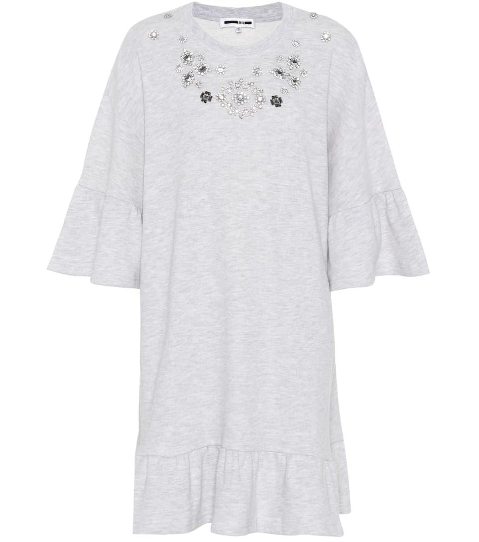 ebay Vente Trouver Grand McQ Alexander McQueen - Robe sweat-shirt en coton à cristaux YMkf9