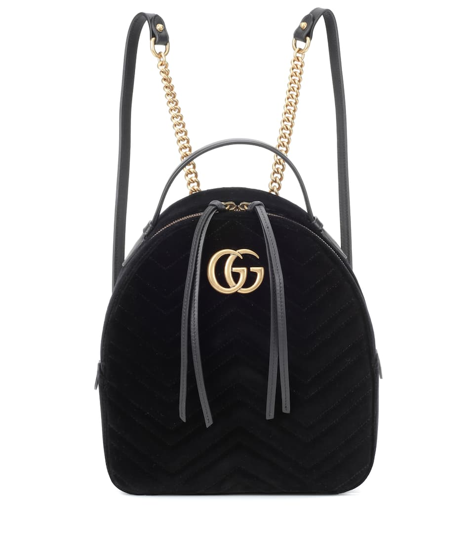 fab65668aee Gg Marmont Velvet Backpack - Gucci | mytheresa