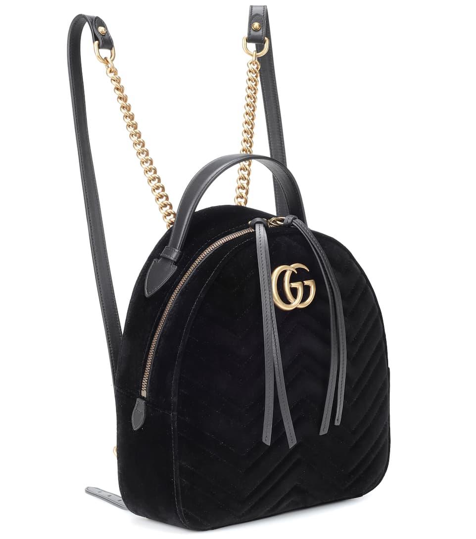e4bff0e18f855c Gg Marmont Velvet Backpack - Gucci | mytheresa