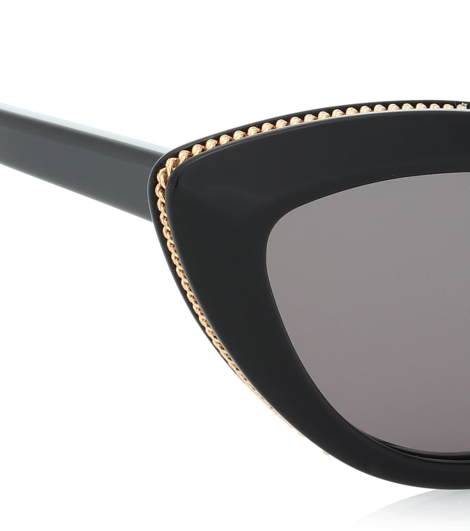d2ce369169d Chain-Trimmed Cat-Eye Sunglasses - Stella McCartney