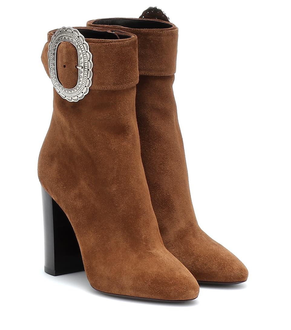 0724c0218bfee Saint Laurent - Joplin embellished suede ankle boots
