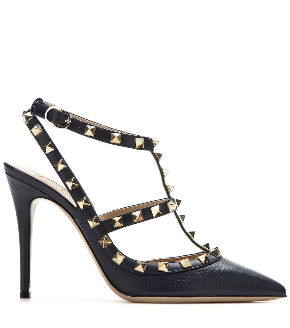 Valentino Valentino Garavani Rockstud leather pumps Marine With Paypal Cheap Price Purchase Sale Online Clearance 2018 Newest Discount Sale 73MrZ0t