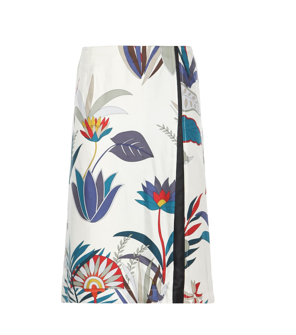 Tory Burch Arielle printed silk skirt