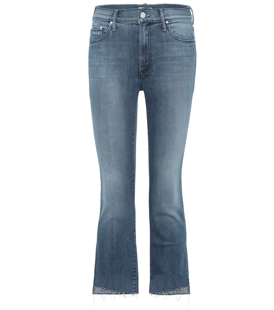 Insider Crop Fray Jeans by Mother