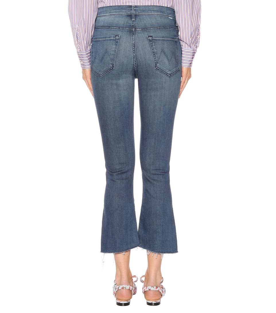 Mother Jeans Insider Crop Step Fray