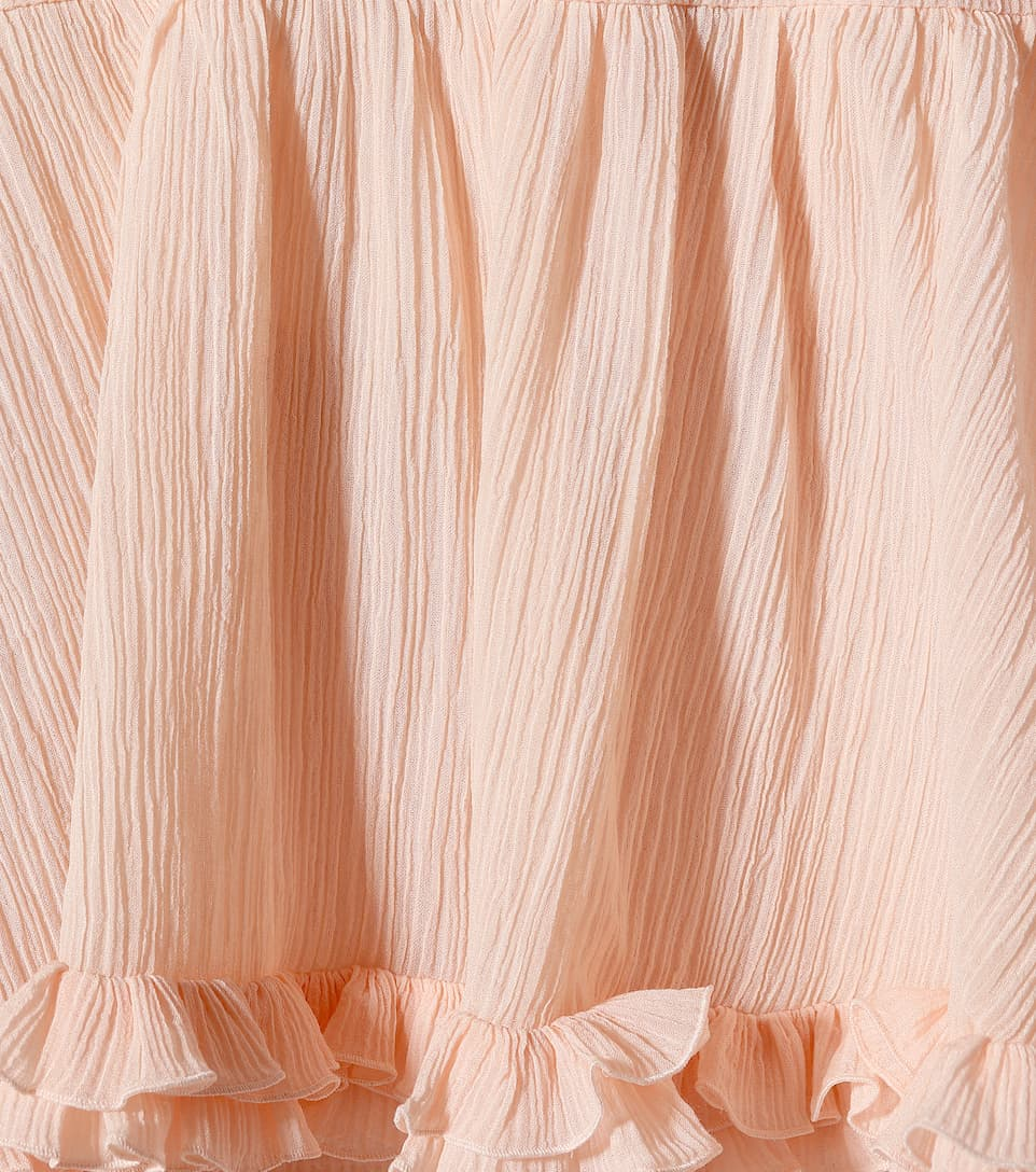 Chloé Midi Skirt Made Of A Cotton-satin Mixture