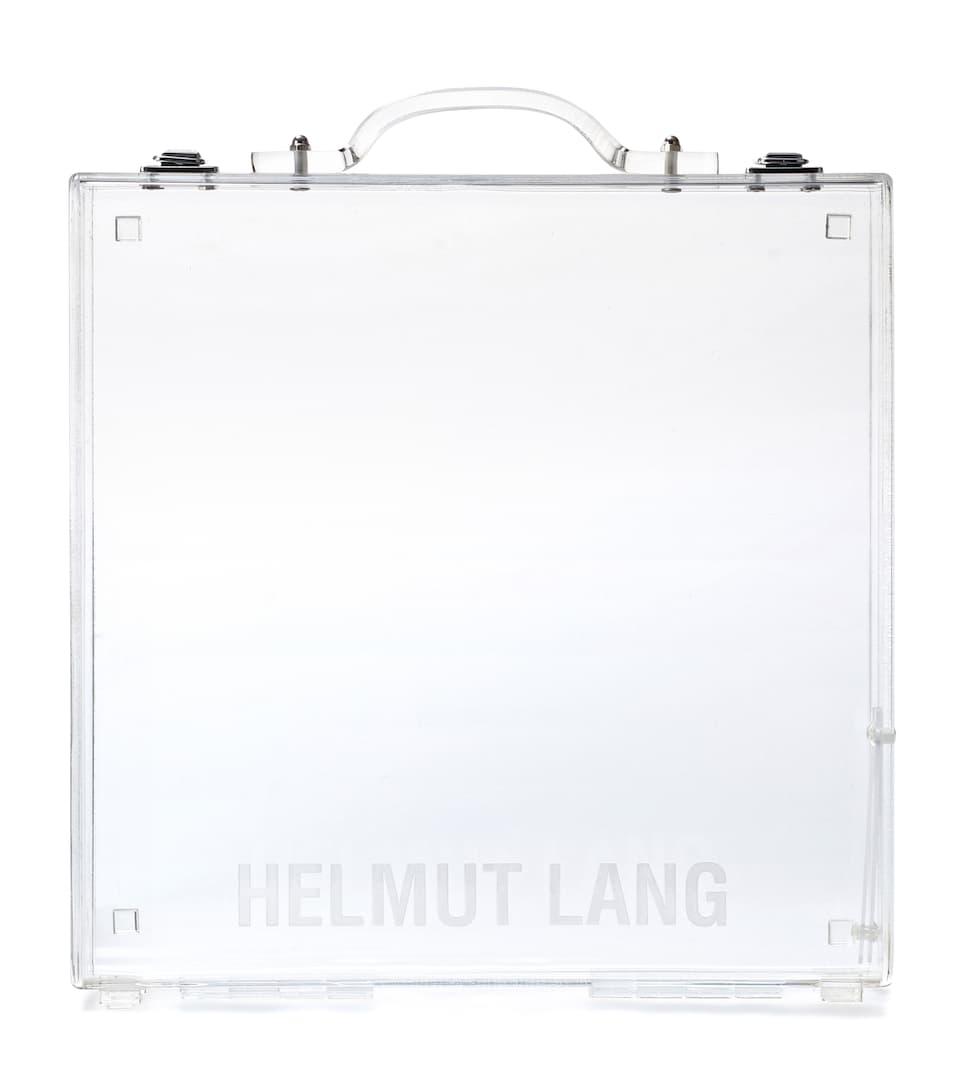Helmut Lang Transparente Tote Lucite