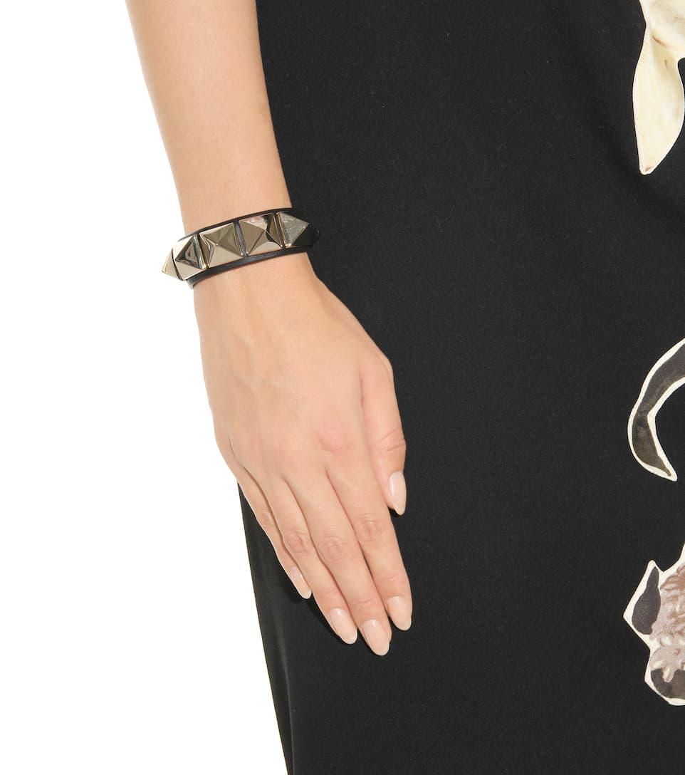 Magasin Discount Acheter Pas Cher Meilleur Gros Valentino Garavani - Bracelet En Cuir Rockstud - Valentino PocKp