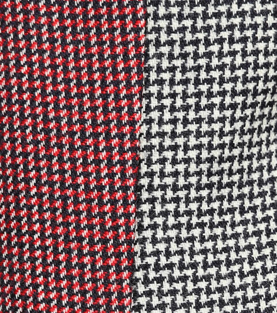 cuadros Tinta Rojo lana McCartney Marfil Abrigo de Stella a Houndstooth q4xZwnt
