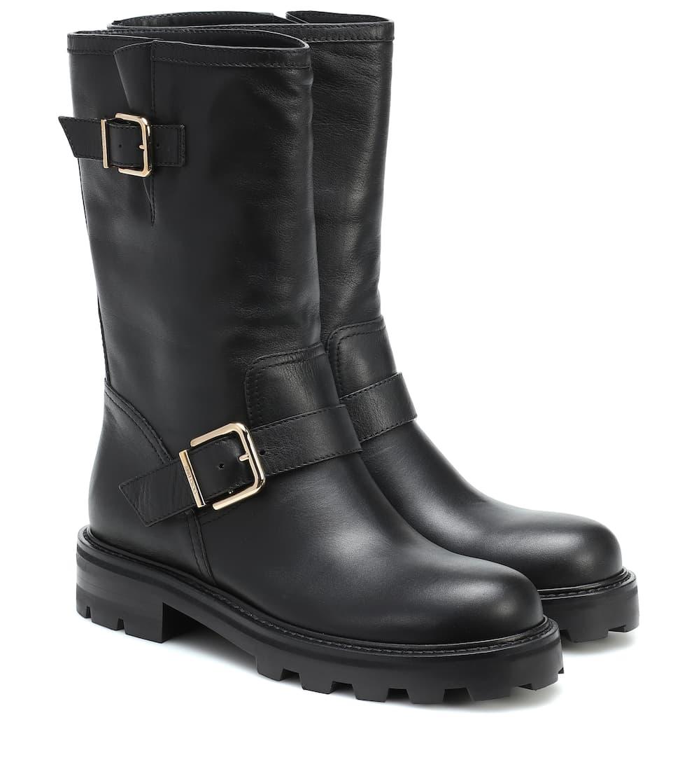 Biker Ii Leather Ankle Boots   Jimmy