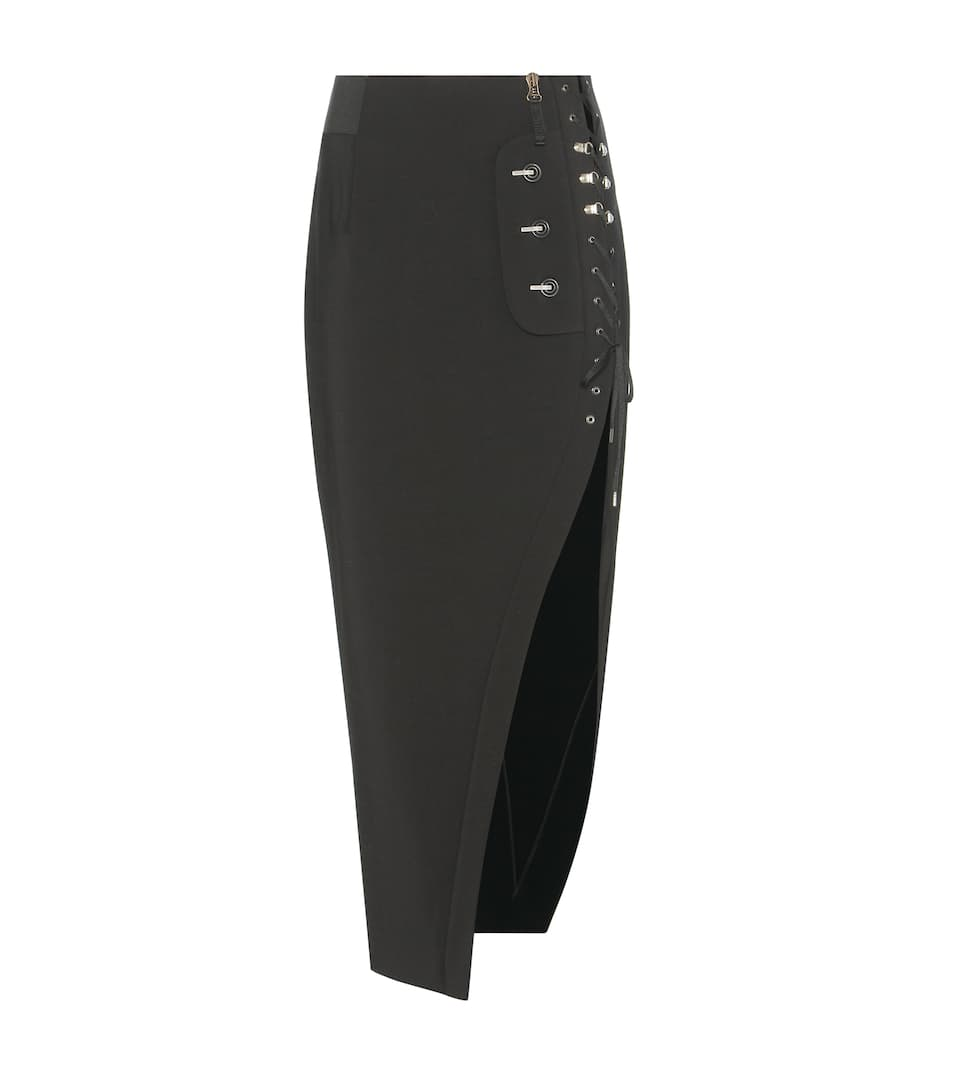 Anthony Vaccarello Crêpe pencil skirt