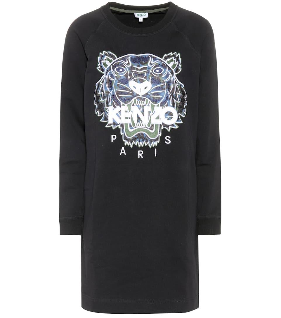 Kenzo Sweatshirt-Kleid aus Baumwolle