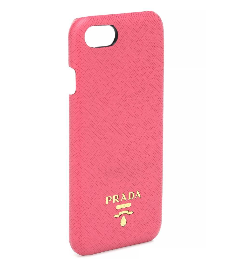 Prada - Coque pour iPhone 7 en cuir Prix Extrêmement Pas Cher combien Offre Pas Cher commande Officiel De Vente imYbEq