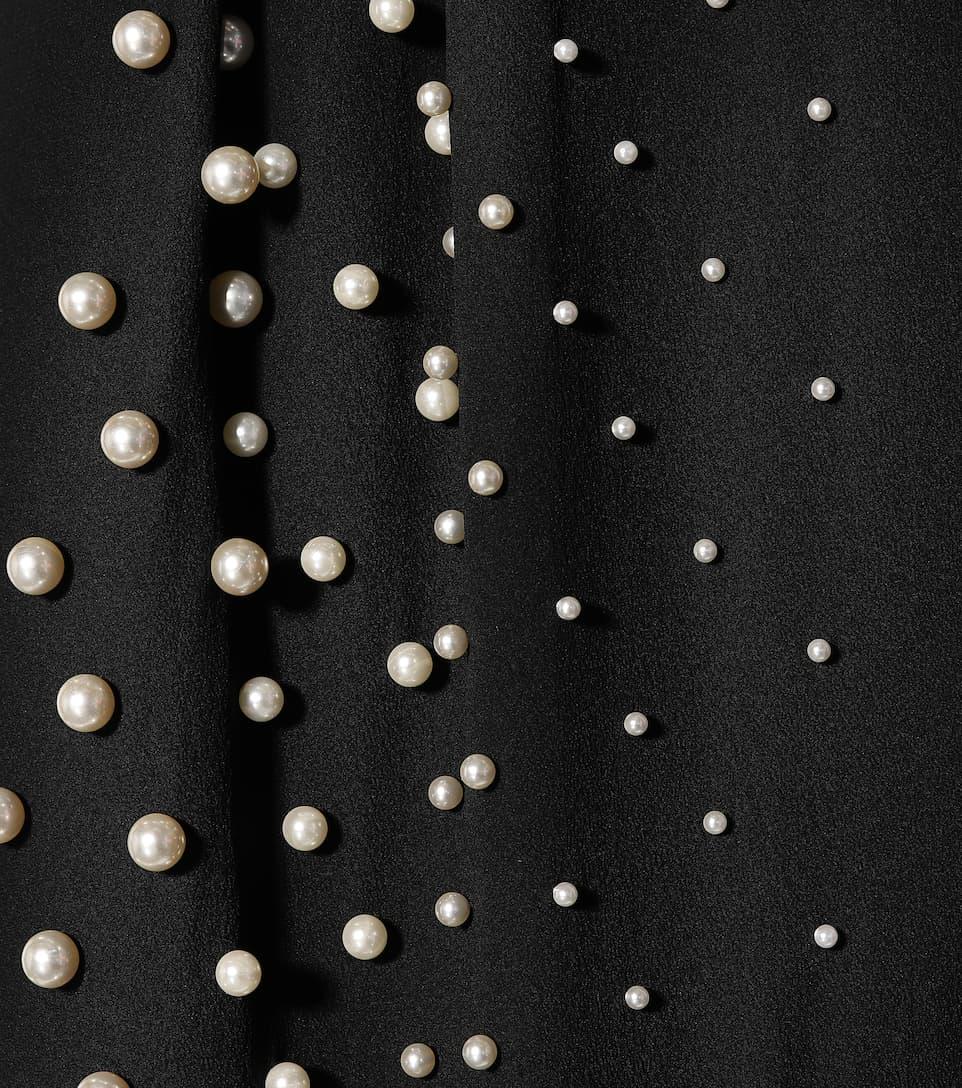 Vente Manchester La Sortie De Nombreux Types De Stella McCartney - Robe en soie à ornements Meilleurs Prix xhpMXuSLA