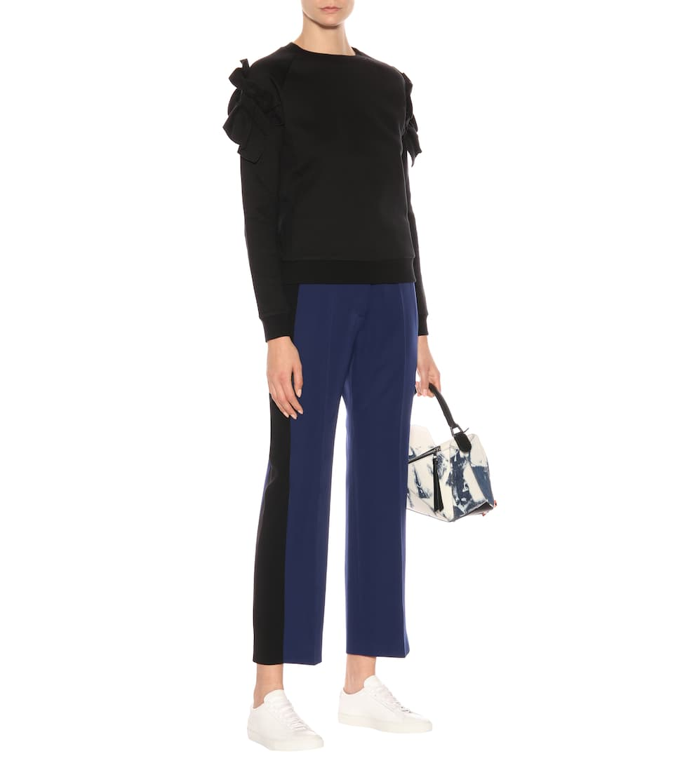 Stella McCartney Gestreifte High-Rise-Hose aus Wolle