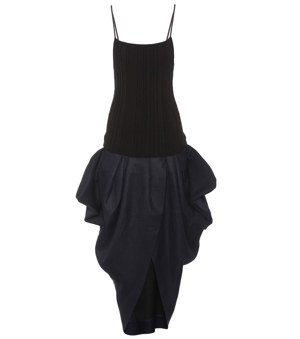 Jacquemus Kleid La Robe Ilha aus Wolle Bester Großhandelsverkauf Online yml2NE