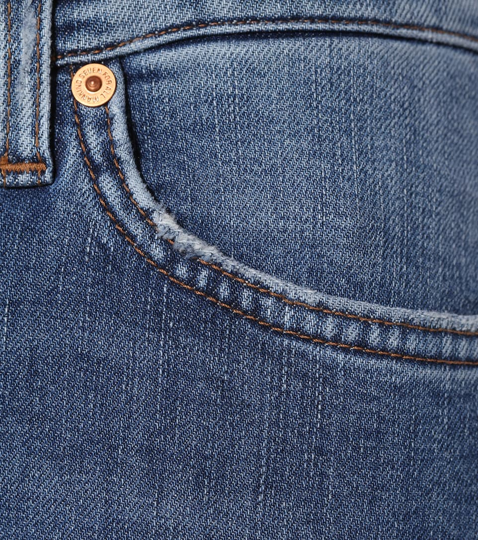 The TBC For Skinny altura All media de jeans 7 Mankind PtTqwA