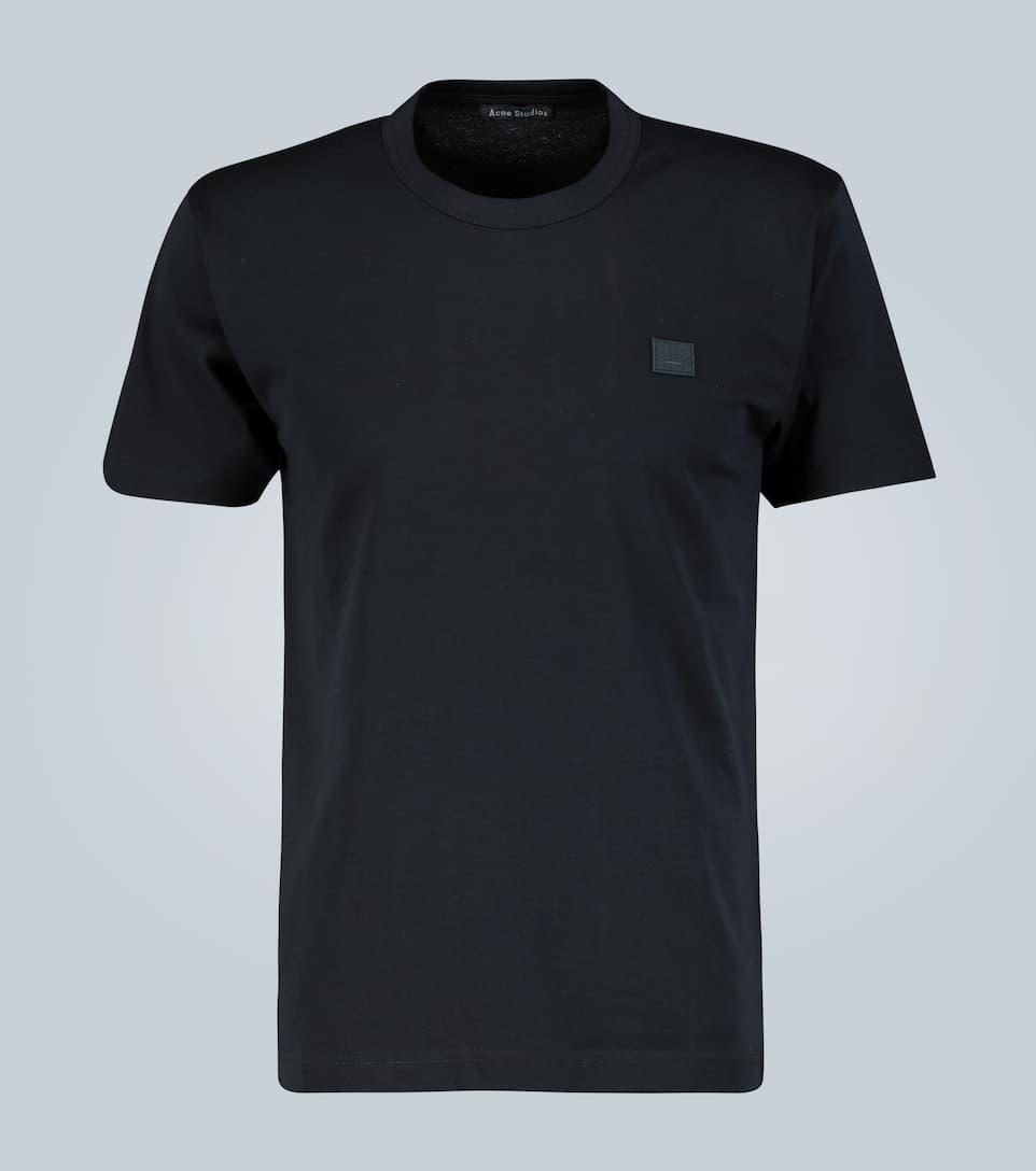 Acne Studios Black Cotton T-shirt With High Collar
