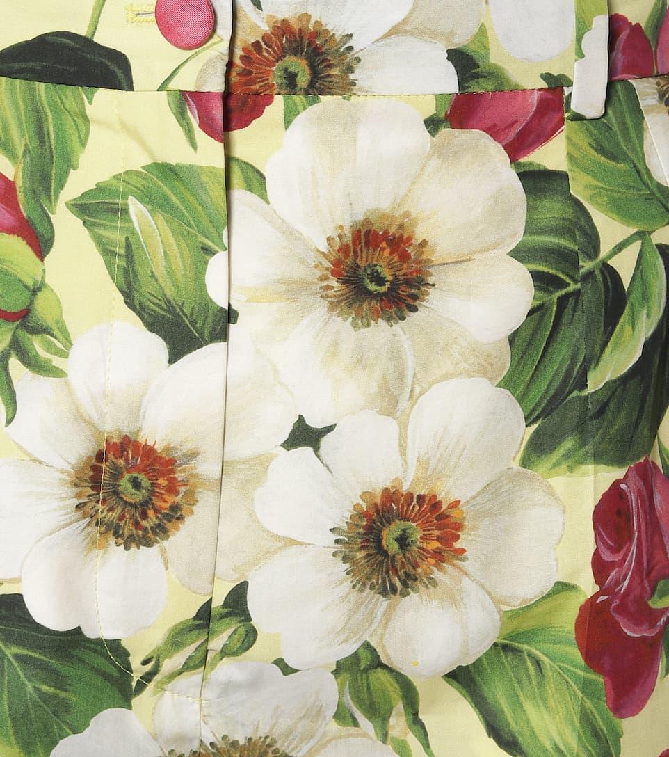 Dolce & Gabbana - Floral cotton shorts