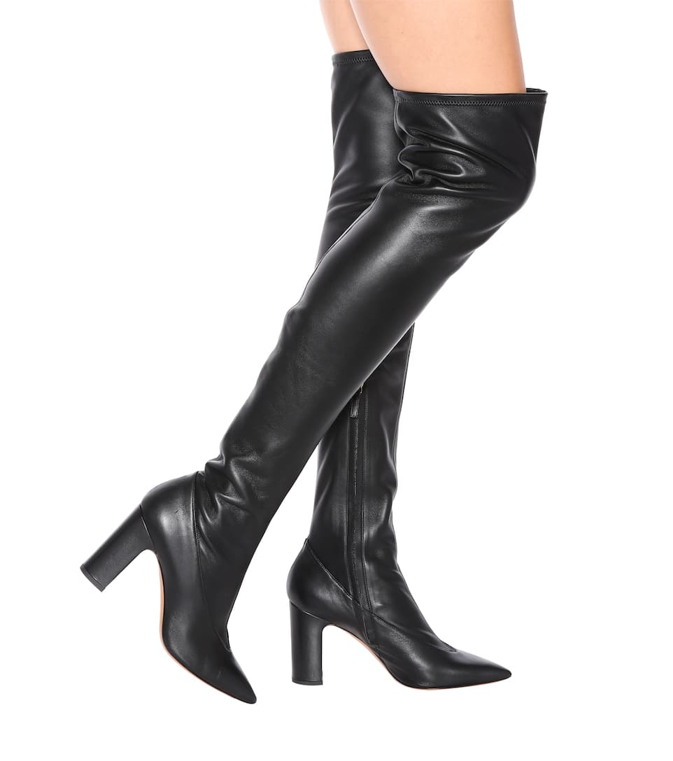 bcadfa5973e Valentino - Valentino Garavani over-the-knee leather boots