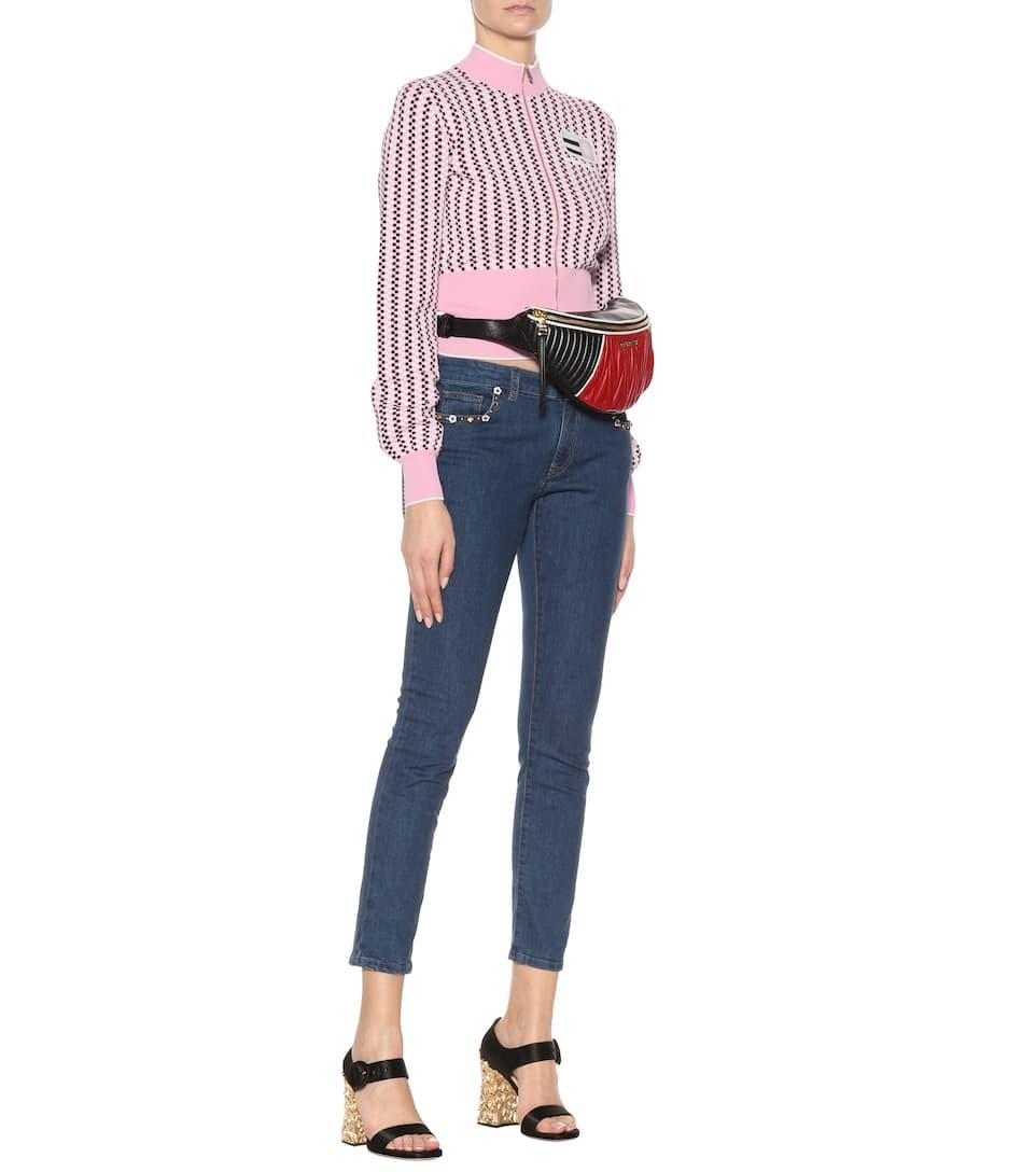 Miu Miu Cropped Skinny Jeans With Ornament
